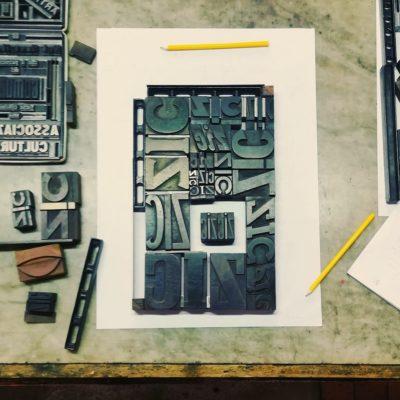 LUOGHI COMUNI – Laboratorio di composizione e stampa a caratteri mobili